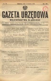 Gazeta Urzędowa Województwa Śląskiego, 1934, R. 13, nr 29