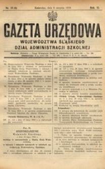 Dział Administracji Szkolnej, 1934, R. 11, nr 8