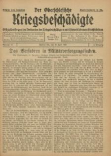 Der Oberschlesische Kriegsbeschädigte, 1920, Jg. 2, Nr 15