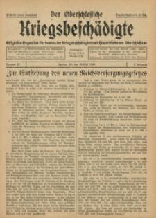 Der Oberschlesische Kriegsbeschädigte, 1920, Jg. 2, Nr 22