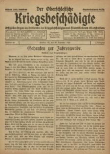 Der Oberschlesische Kriegsbeschädigte, 1920, Jg. 2, Nr 53