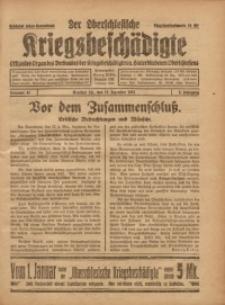 Der Oberschlesische Kriegsbeschädigte, 1921, Jg. 3, Nr 41