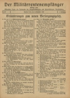 Militärrentenempfänger, 1920, Jg. 2, Nr. 45