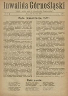 Inwalida Górnośląski, 1920, Nr. 52