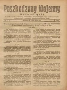 Poszkodzony Wojenny Górnośląski, 1921, Nr. 7