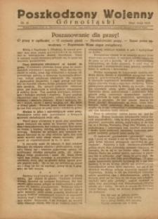 Poszkodzony Wojenny Górnośląski, 1921, Nr. 21