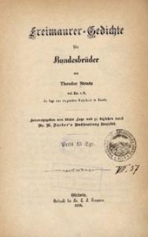 Freimaurer-Gedichte für Bundesbrüder
