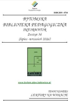 Bytomska Biblioteka Pedagogiczna. Informator. Zeszyt 36