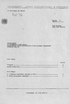 Uzupełnienie do Informacji o realizacji ważniejszych zadań społeczno - gospodarczych w woj. miejskim krakowskim, czerwiec 1981 r.