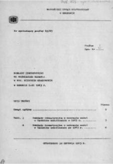 Nakłady inwestycyjne na ważniejsze zadania w woj. miejskim krakowskim w okresie styczeń-listopad 1983 r.