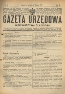 Gazeta Urzędowa Województwa Śląskiego, 1931, R. 10, nr 6