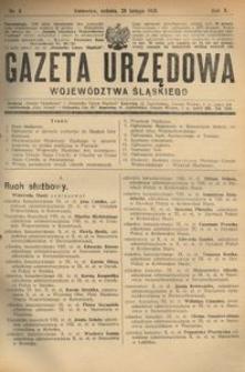 Gazeta Urzędowa Województwa Śląskiego, 1931, R. 10, nr 8
