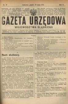 Gazeta Urzędowa Województwa Śląskiego, 1931, R. 10, nr 19