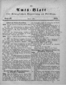 Amts-Blatt der Königlichen Regierung zu Breslau, 1874, Bd. 65, St. 27