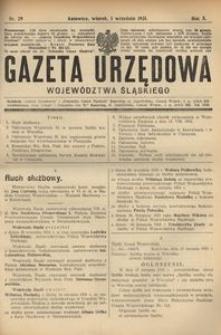 Gazeta Urzędowa Województwa Śląskiego, 1931, R. 10, nr 29