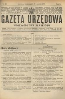 Gazeta Urzędowa Województwa Śląskiego, 1931, R. 10, nr 30
