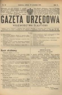 Gazeta Urzędowa Województwa Śląskiego, 1931, R. 10, nr 31