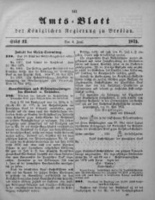 Amts-Blatt der Königlichen Regierung zu Breslau, 1875, Bd. 66, St. 23