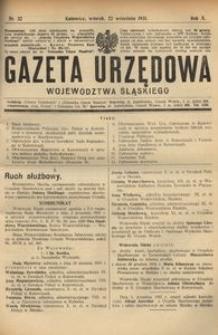 Gazeta Urzędowa Województwa Śląskiego, 1931, R. 10, nr 32