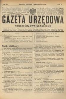Gazeta Urzędowa Województwa Śląskiego, 1931, R. 10, nr 33