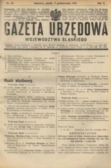 Gazeta Urzędowa Województwa Śląskiego, 1931, R. 10, nr 34
