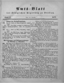Amts-Blatt der Königlichen Regierung zu Breslau, 1877, Bd. 68, St. 2