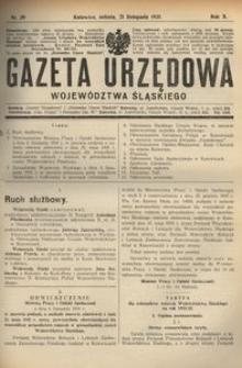 Gazeta Urzędowa Województwa Śląskiego, 1931, R. 10, nr 39