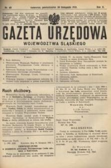 Gazeta Urzędowa Województwa Śląskiego, 1931, R. 10, nr 40