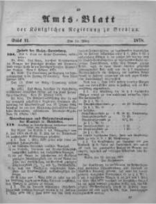 Amts-Blatt der Königlichen Regierung zu Breslau, 1878, Bd. 69, St. 11