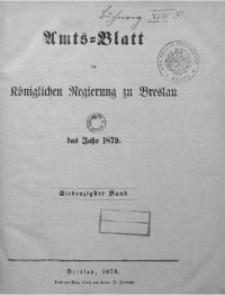 Amts-Blatt der Königlichen Regierung zu Breslau, 1879, Bd. 70, St. 1