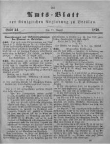 Amts-Blatt der Königlichen Regierung zu Breslau, 1879, Bd. 70, St. 34