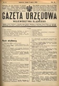 Gazeta Urzędowa Województwa Śląskiego, 1932, R. 11, nr 8