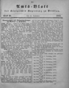 Amts-Blatt der Königlichen Regierung zu Breslau, 1882, Bd. 73, St. 39