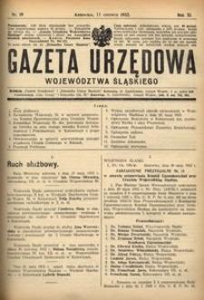 Gazeta Urzędowa Województwa Śląskiego, 1932, R. 11, nr 19