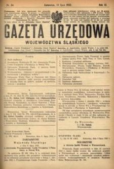 Gazeta Urzędowa Województwa Śląskiego, 1932, R. 11, nr 24