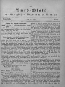 Amts-Blatt der Königlichen Regierung zu Breslau, 1884, Bd. 75, St. 25