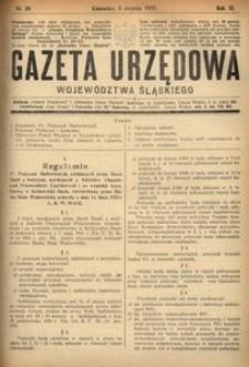 Gazeta Urzędowa Województwa Śląskiego, 1932, R. 11, nr 26