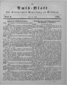 Amts-Blatt der Königlichen Regierung zu Breslau, 1885, Bd. 76, St. 21