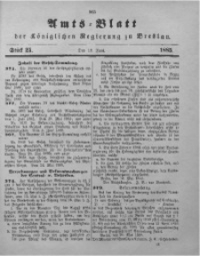 Amts-Blatt der Königlichen Regierung zu Breslau, 1885, Bd. 76, St. 25