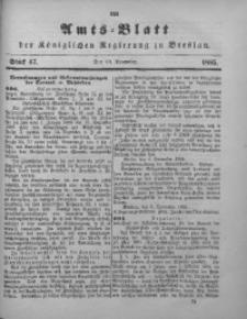Amts-Blatt der Königlichen Regierung zu Breslau, 1885, Bd. 76, St. 47