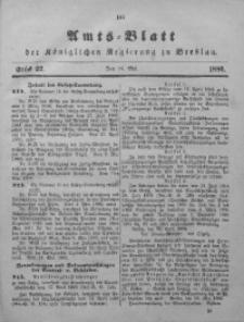 Amts-Blatt der Königlichen Regierung zu Breslau, 1886, Bd. 77, St. 22