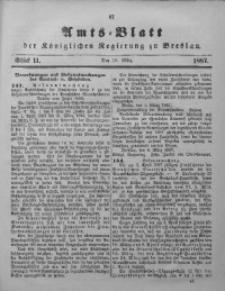 Amts-Blatt der Königlichen Regierung zu Breslau, 1887, Bd. 78, St. 11
