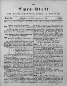 Amts-Blatt der Königlichen Regierung zu Breslau, 1890, Bd. 81, St. 22