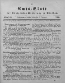 Amts-Blatt der Königlichen Regierung zu Breslau, 1890, Bd. 81, St. 45