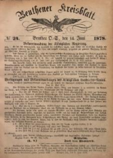 Beuthener Kreisbatt, 1878, No 24