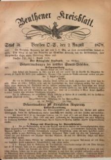 Beuthener Kreisbatt, 1878, St. 31