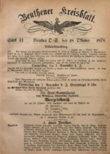 Beuthener Kreisbatt, 1878, St. 42