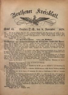 Beuthener Kreisbatt, 1878, St. 45