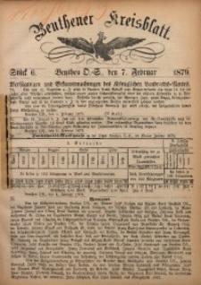 Beuthener Kreisbatt, 1879, St. 6