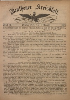 Beuthener Kreisbatt, 1879, St. 31